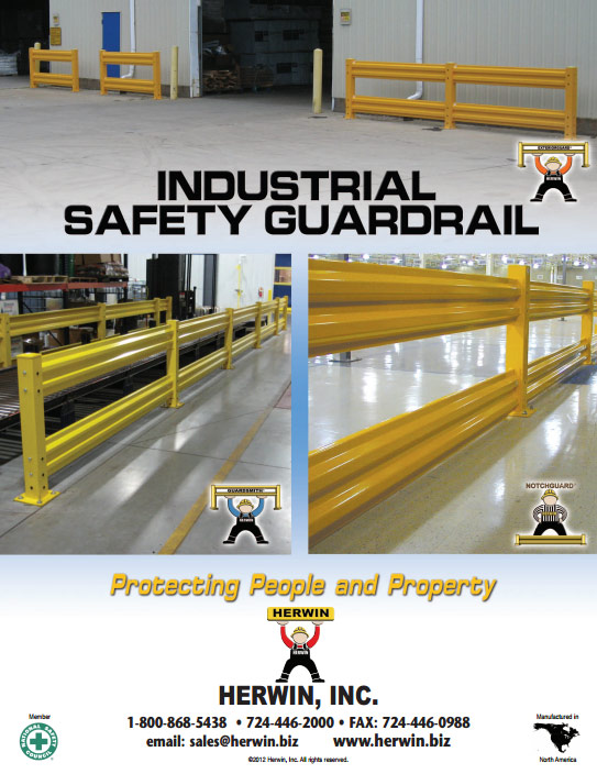 Yellow Guard Rail, Forklift, pallet jack,manufactuer,USA